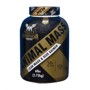 Muscle Warrior Animal Mass Lean Mass and Size Gainer 6 lbs (2.72kg)
